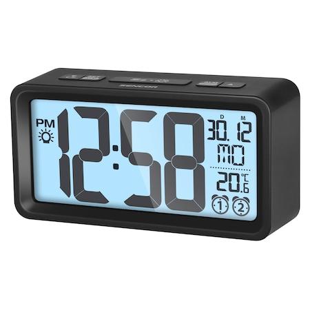 Sencor SDC 2800 B Digitális ébresztőóra hőmérővel, fekete