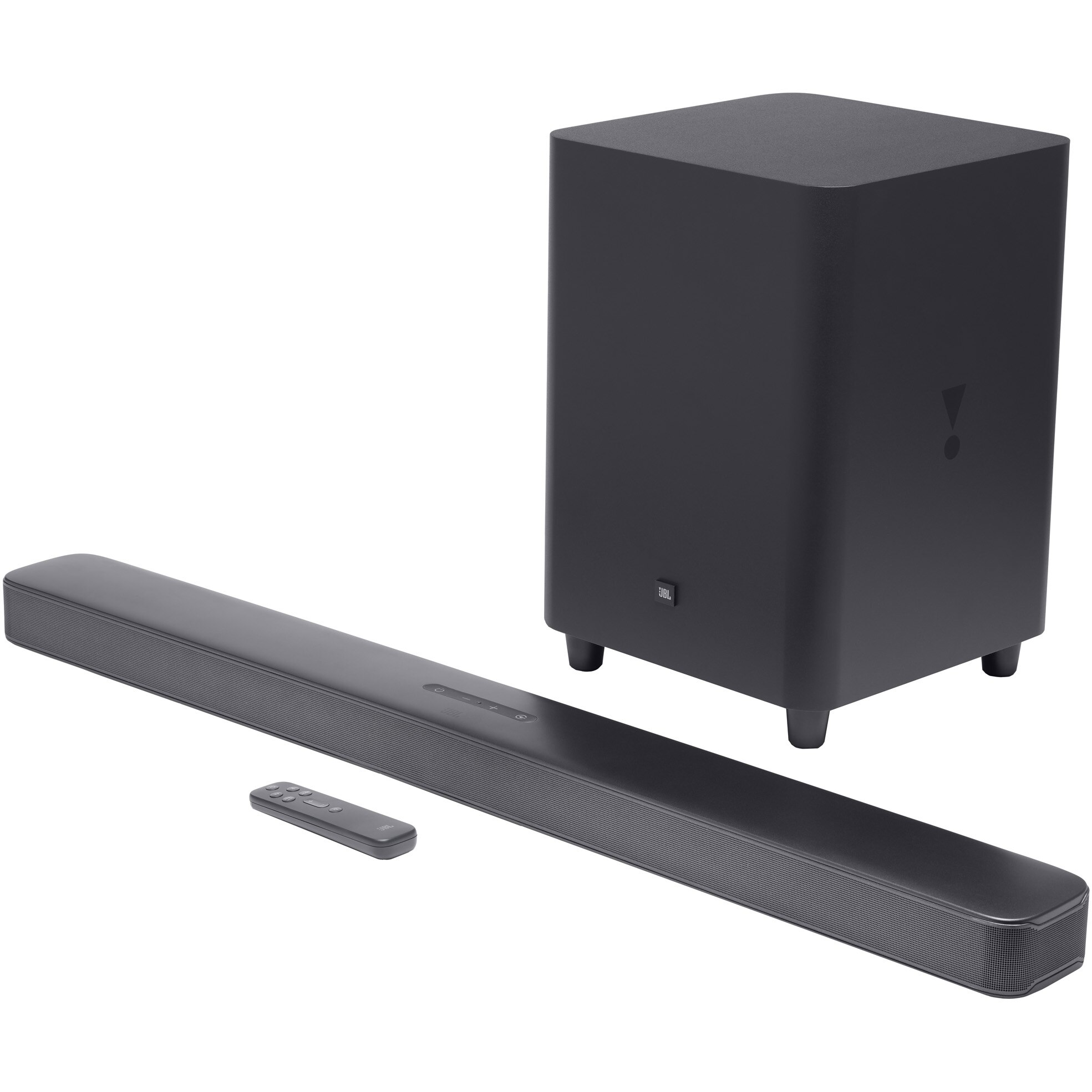 Fotografie Soundbar JBL Bar 5.1 Surround, 550W, MultiBeam™ Technology, Wireless Subwoofer, Chromecast and Airplay 2 built-in, HDMI 4K Pass-through, Dolby Digital 5.1