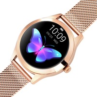 NEOGO SmartWatch Glam, női okosóra, arany/fém