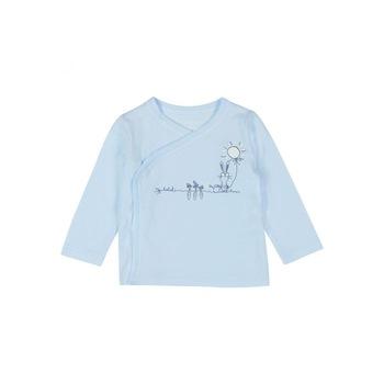 Бебешки комплект за изписване Зайчета Boboli, 3 части, 1м/ 56см, Син