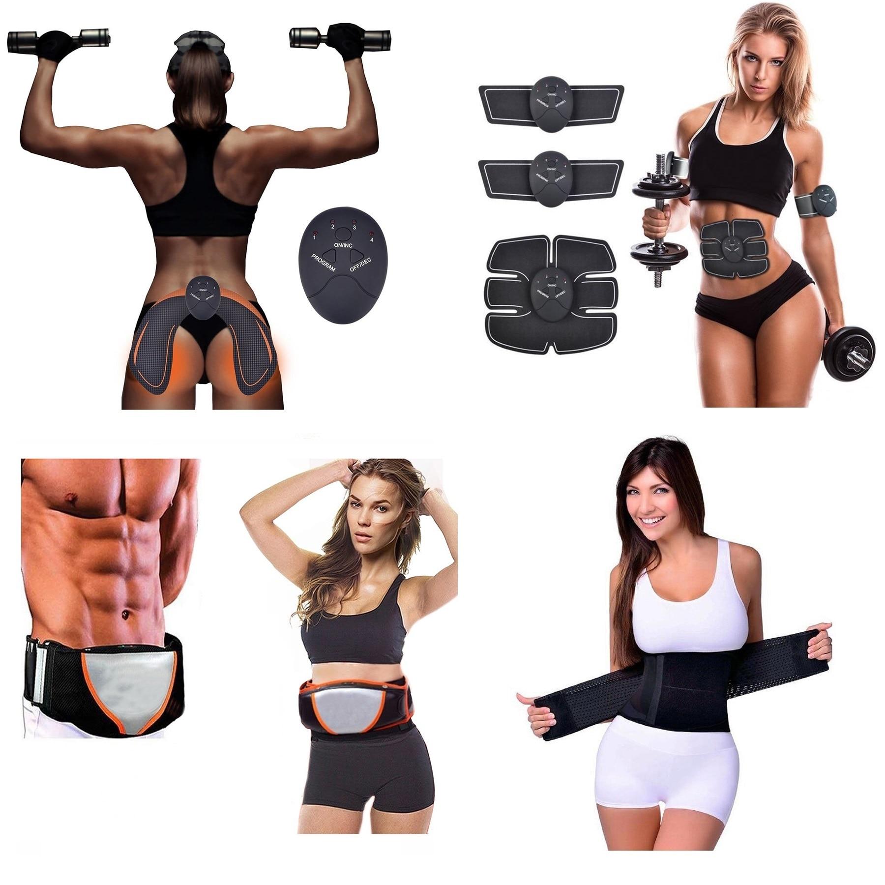 Aparat electrostimulare fitness abdomen maini si picioare   adroi-sport