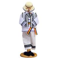 Costum popular baiat zona Munteniei, 6 piese, 6-9 luni (68-74 cm)
