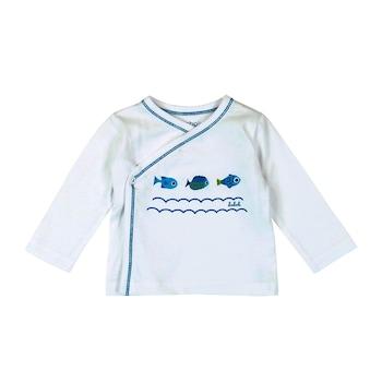 Бебешки комплект за изписване 3 части, Boboli, бял/син, 1м/56см