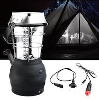 Соларен къмпинг фенер, Динамо зареждане, Акумулатор, USB изход, 36 LED