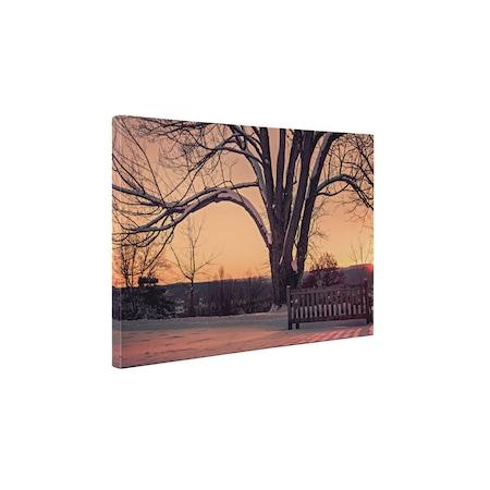 Картини върху канава 4Decor - Залез през зимата - 15x20 см