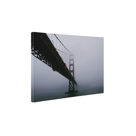 Картини върху канава 4Decor - Голдън Гейт Бридж в мъглата - 25x35 см