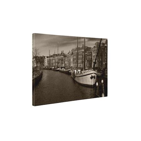 Картини върху канава 4Decor - Градски пейзаж в черно и бяло - 50x65 см