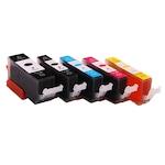 Set 5 cartuse Canon PGI-550 / CLI-551 XL, compatibile, capacitate mare, pentru Canon Pixma iP7200, iP7250, iP8750, iX6850, MG5450, MG6350, MG5550, MG5650, MG6450, MG6650, MG7150, MG7550, MX725, MX925