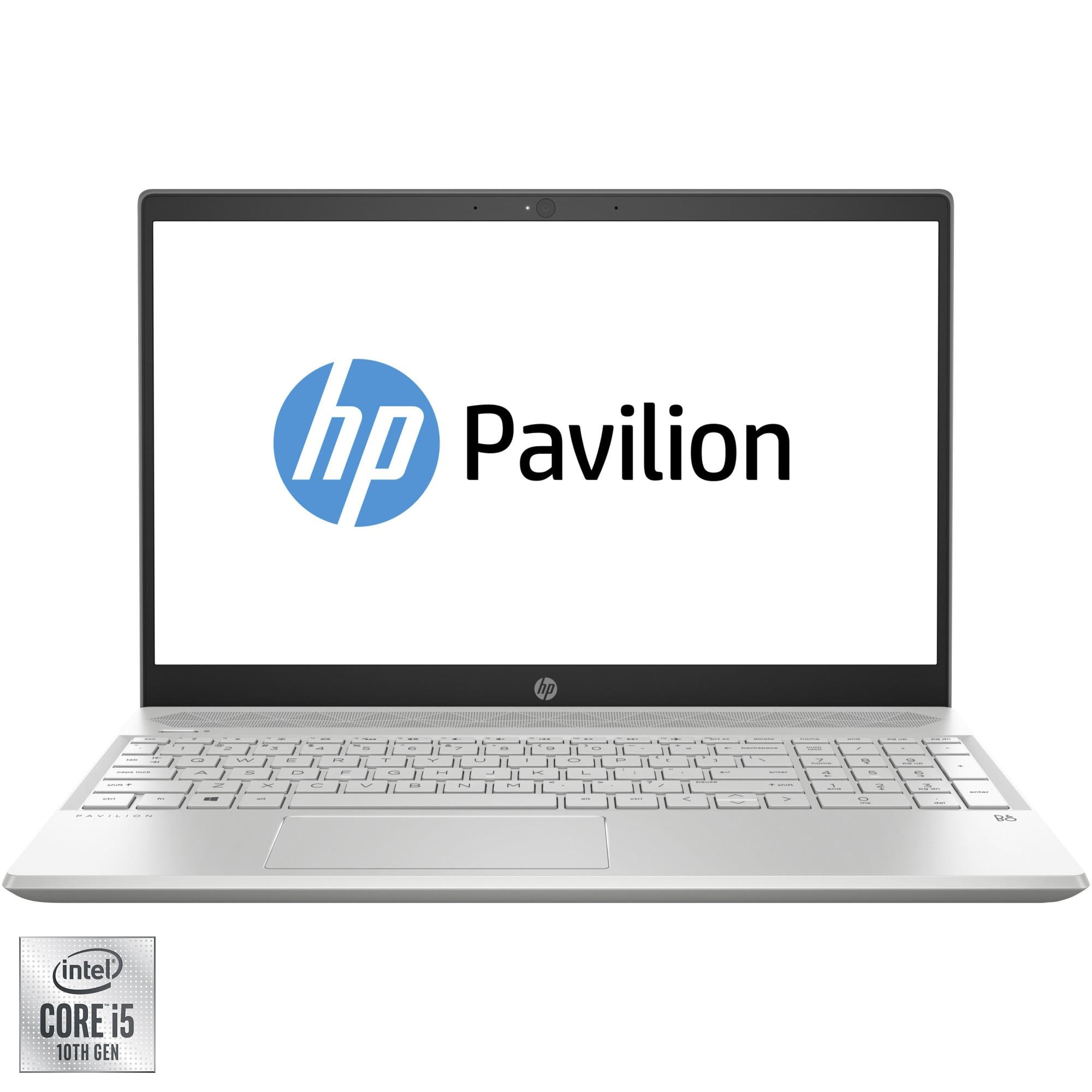 "Fotografie Laptop HP Pavilion 15-cs3002nq cu procesor Intel® Core™ i5-1035G1 pana la 3.60 GHz Ice Lake, 15.6"", Full HD, 8GB, 1TB HDD + 256GB SSD, Nvidia GeForce MX250 2GB, Free DOS, Mineral silver,"