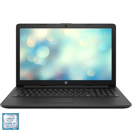 "Laptop HP 15-da1011nq cu procesor Intel® Core™ i3-8145U pana la 3.90 GHz, 15.6"", Full HD, 4GB, 256GB SSD, Intel® UHD Graphics 620, Free DOS, Black"