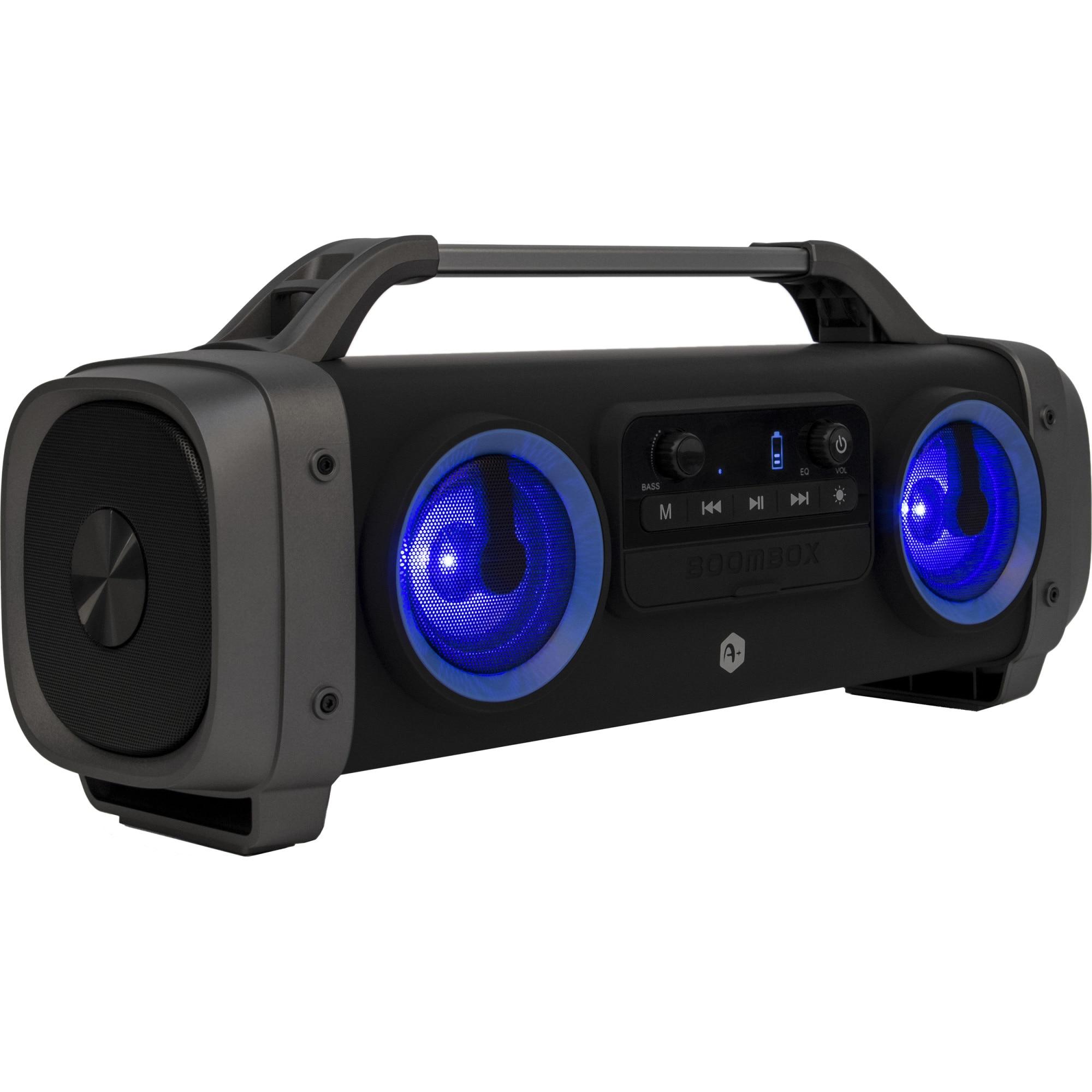 Fotografie Boxa portabila bluetooth A+ Retro, 26W, port USB/ FM Radio, negru