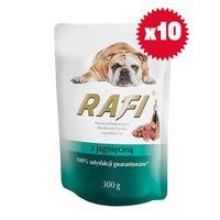 Пауч за кучета Rafi Adult с агнешко, стек (10 бр)