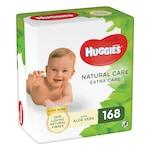 Мокри кърпички Huggies Natural Care Extra Care, 3 пакета x 56, 168 броя