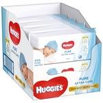 Мокри кърпички Huggies Pure Extra Care, 8 пакета x 56, 448 броя