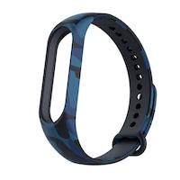 Xiaomi Mi Band 3 és Mi Band 4 okoskarkötő terepszínű pótszíj - Terep/kék