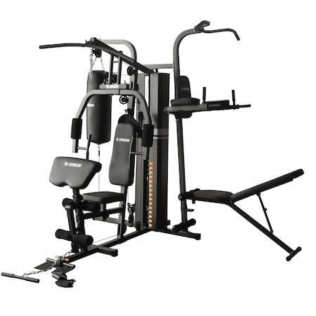 Aparat multifunctional fitness Orion EON J2, potrivit pentru toate grupele de muschi, greutate maxima utilizator: 150kg, 72kg greutati incluse