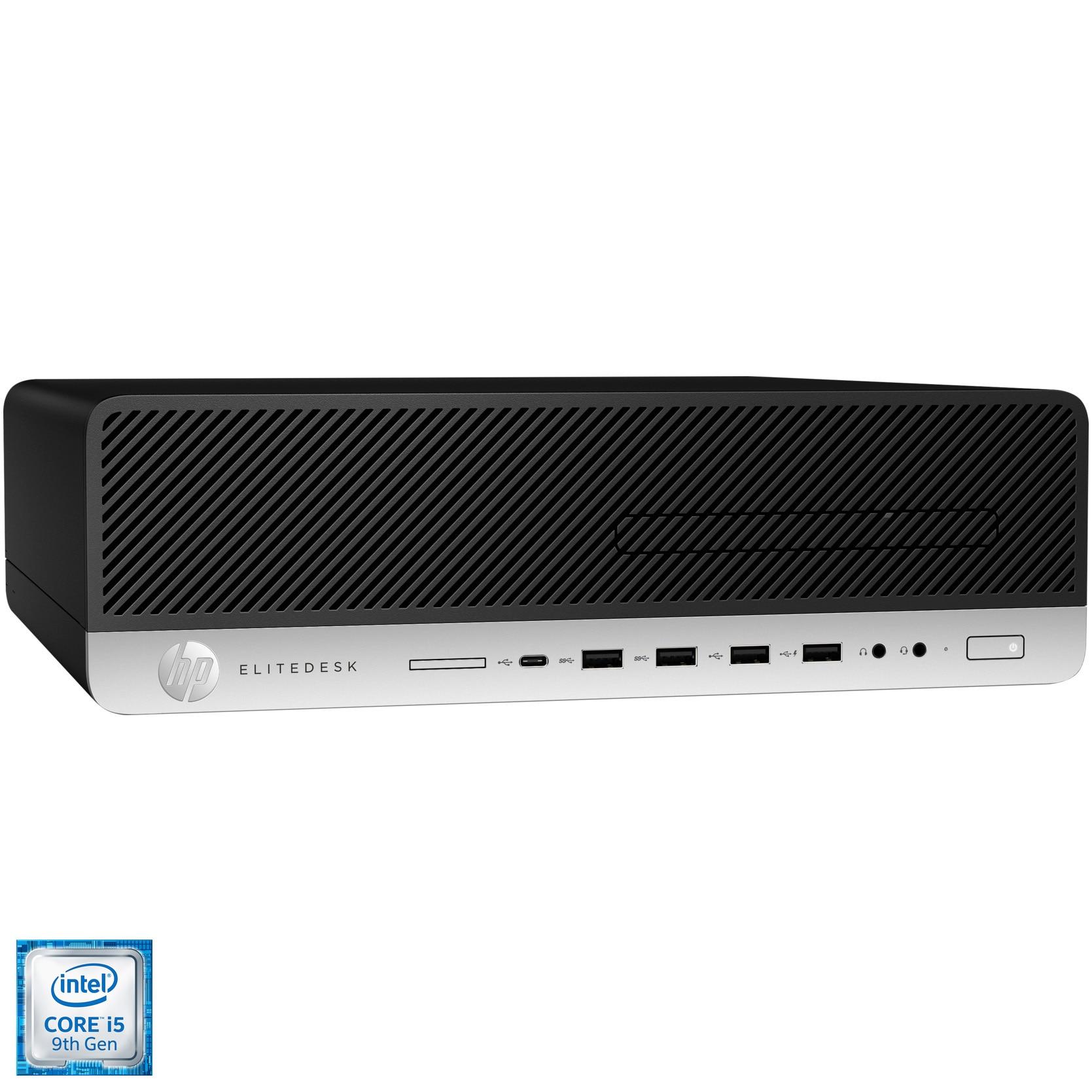 Fotografie Sistem Desktop PC HP EliteDesk 800 G5 SFF cu procesor Intel® Core™ i5-9500 pana la 4.40 GHz, Coffee Lake, 8GB DDR4, 256GB SSD, Intel® UHD Graphics 630, Microsoft Windows 10 Pro