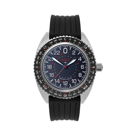 Луксозен мъжки часовник Raketa Baikonur 0245, Аналогов, Автоматичен, Диаметър на корпуса: 43.00mm