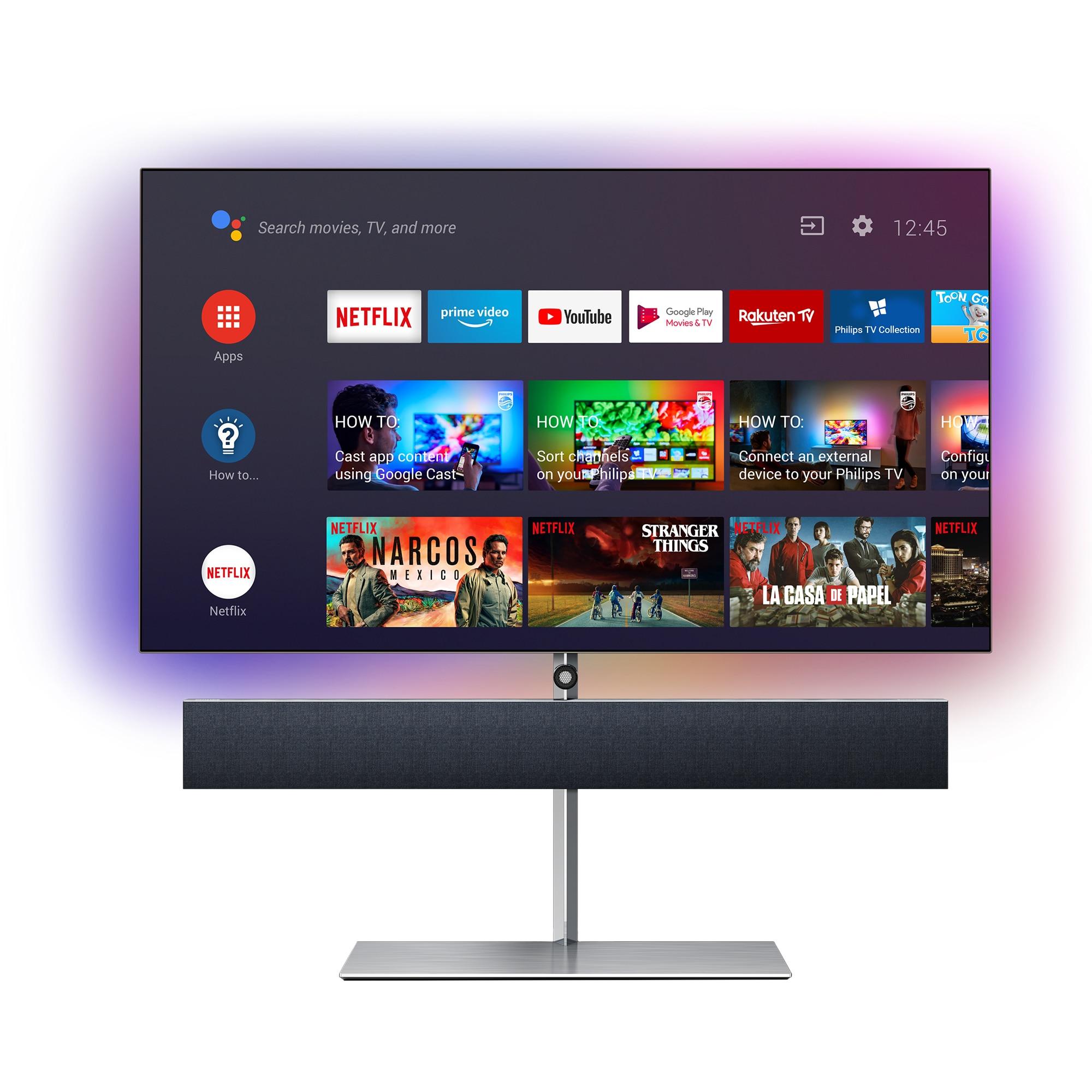 Fotografie Televizor OLED Smart Android Philips, 164 cm, 65OLED984/12, 4K Ultra HD
