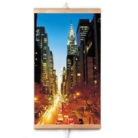 Trio infravörös sugárzó panel, Városi fények, 400 W, 100 x 57 cm, Többszínű