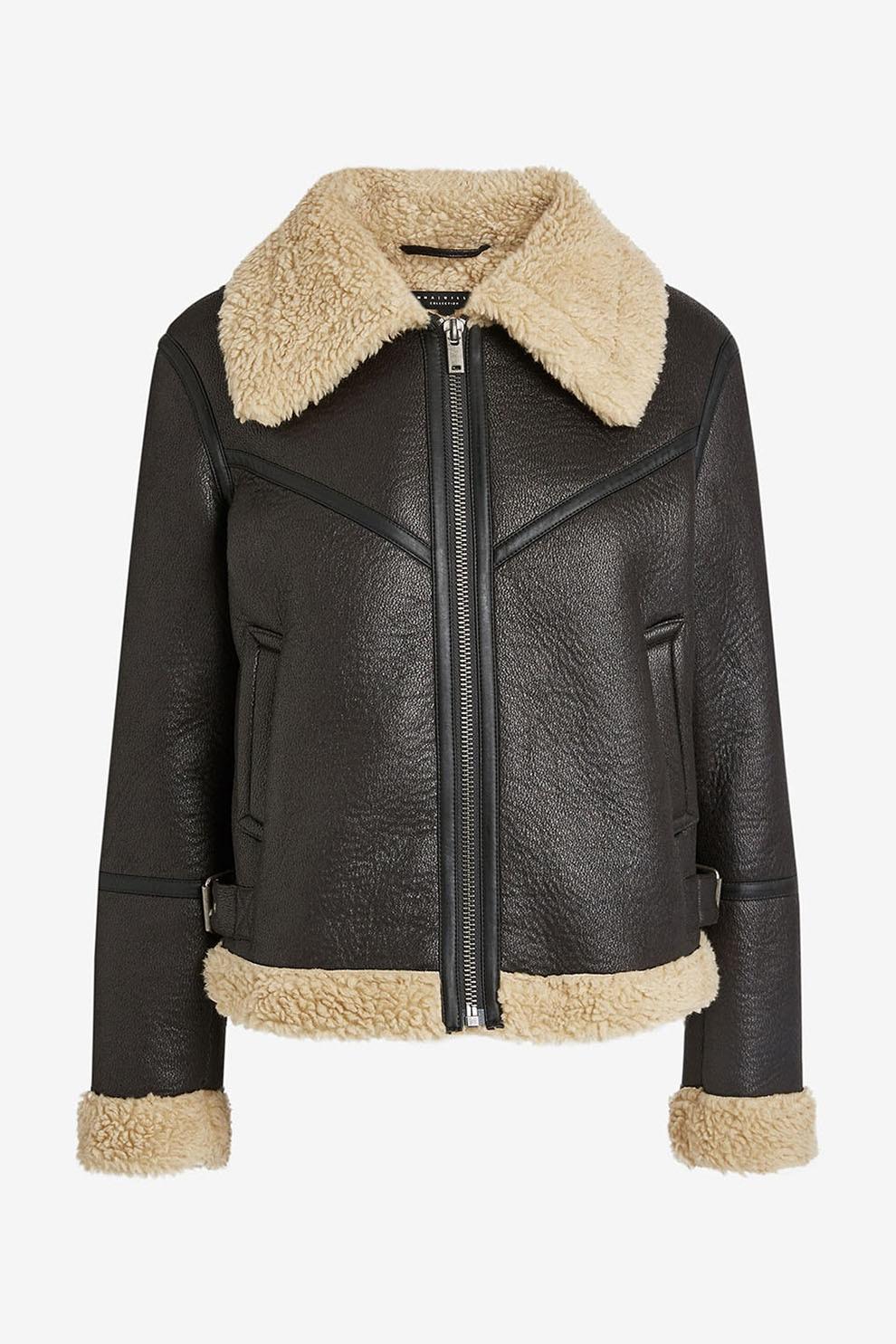 Női kabátok, dzsekik és mellények Típus Dzseki Anyag Bőr