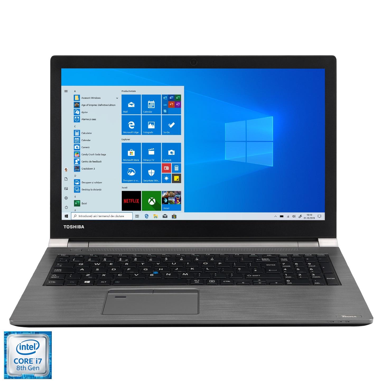 "Fotografie Laptop Toshiba Tecra Z50-E-17H cu procesor Intel® Core™ i7-8550U pana la 4.00 GHz Kaby Lake R, 15.6"", Full HD, 32GB, 512GB SSD, Intel UHD Graphics, Windows 10 Pro, Steel Grey"