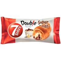 Croissant cu crema de cacao si vanilie Double Super Max 110g 7Days