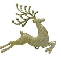 Декоративни златни коледни еленчета за елха 14 см.