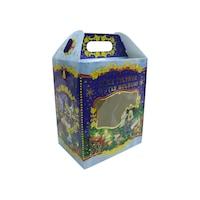 Декоративна подаръчна коледна кутия синя