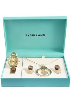 Excellanc Exclusive arany színű ajándékszett órával, nyaklánccal és fülbevalóval EX189112EL