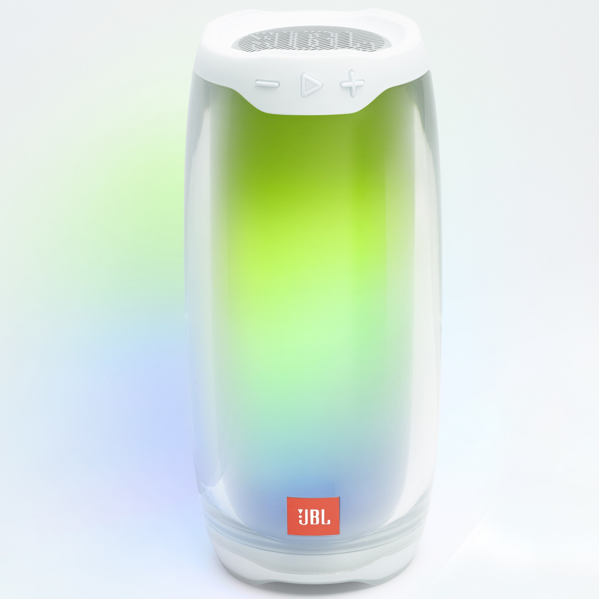 Fotografie Boxa portabila JBL PULSE 4, Bluetooth, 360 LED Lightshow & Speaker, PartyBoost, USB C, 12H Playtime, Rezistenta la apa IPX7, Alb
