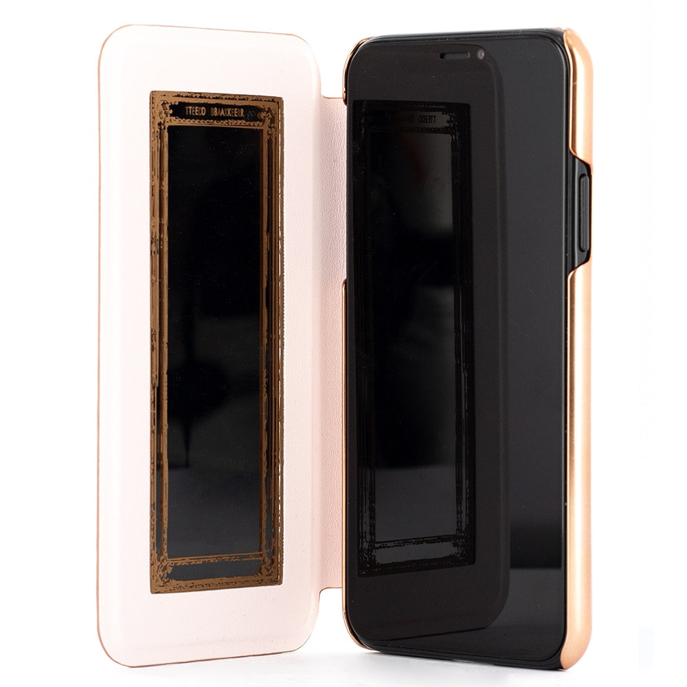 Fotografie Husa de protectie Ted Baker Book Glitsyy Mirror Folio pentru Apple iPhone 11 Pro, Rose Gold