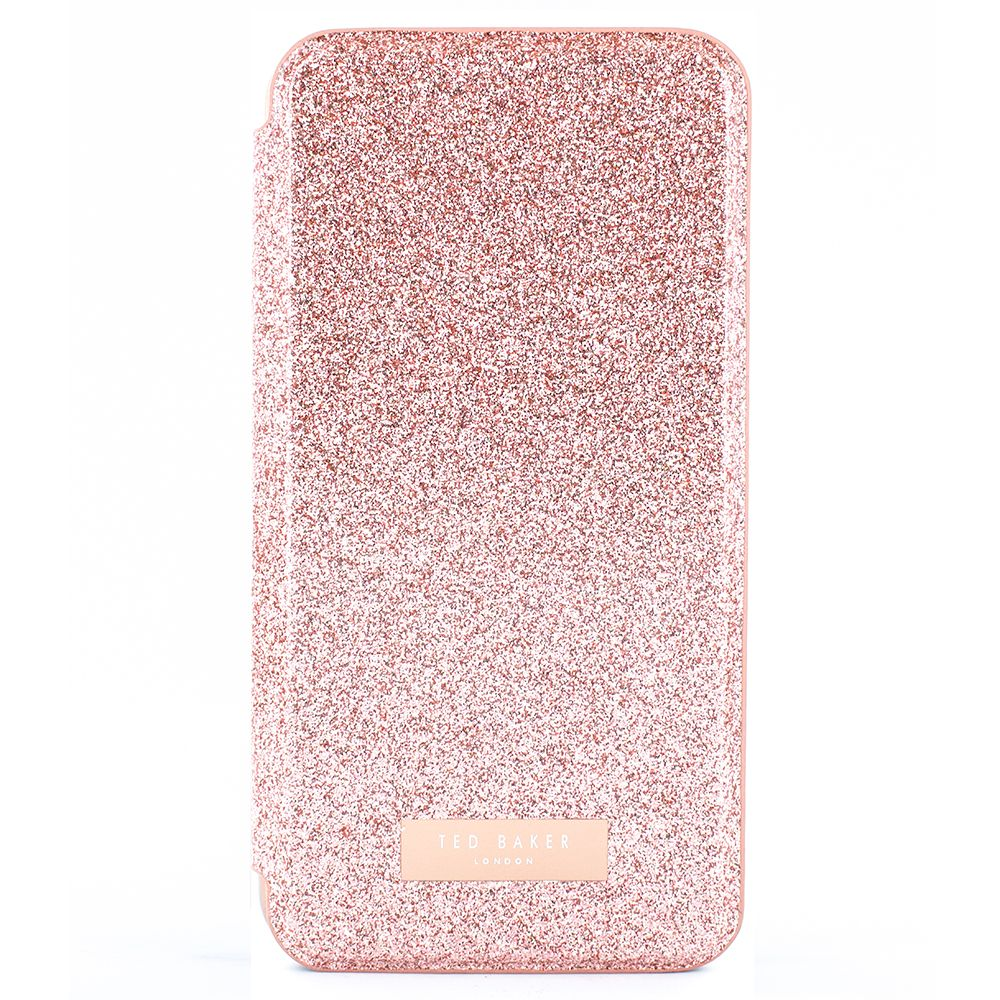 Fotografie Husa de protectie Ted Baker Book Glitsyy Mirror Folio pentru Apple iPhone XS / X, Rose Gold