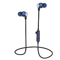 MS-T2 SPORT nyakpántos vezeték nélküli bluetooth fülhallgató, mágneses, sportoláshoz, 8m hatótáv, Kék