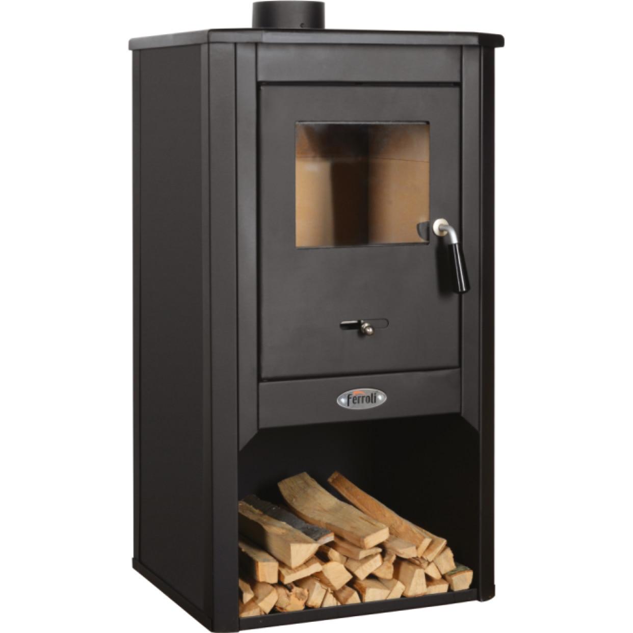 Fotografie Semineu pe lemne, brichete si carbuni Ferroli Padova F, 9kW, 2.8 kg/h, 49x46x93 cm