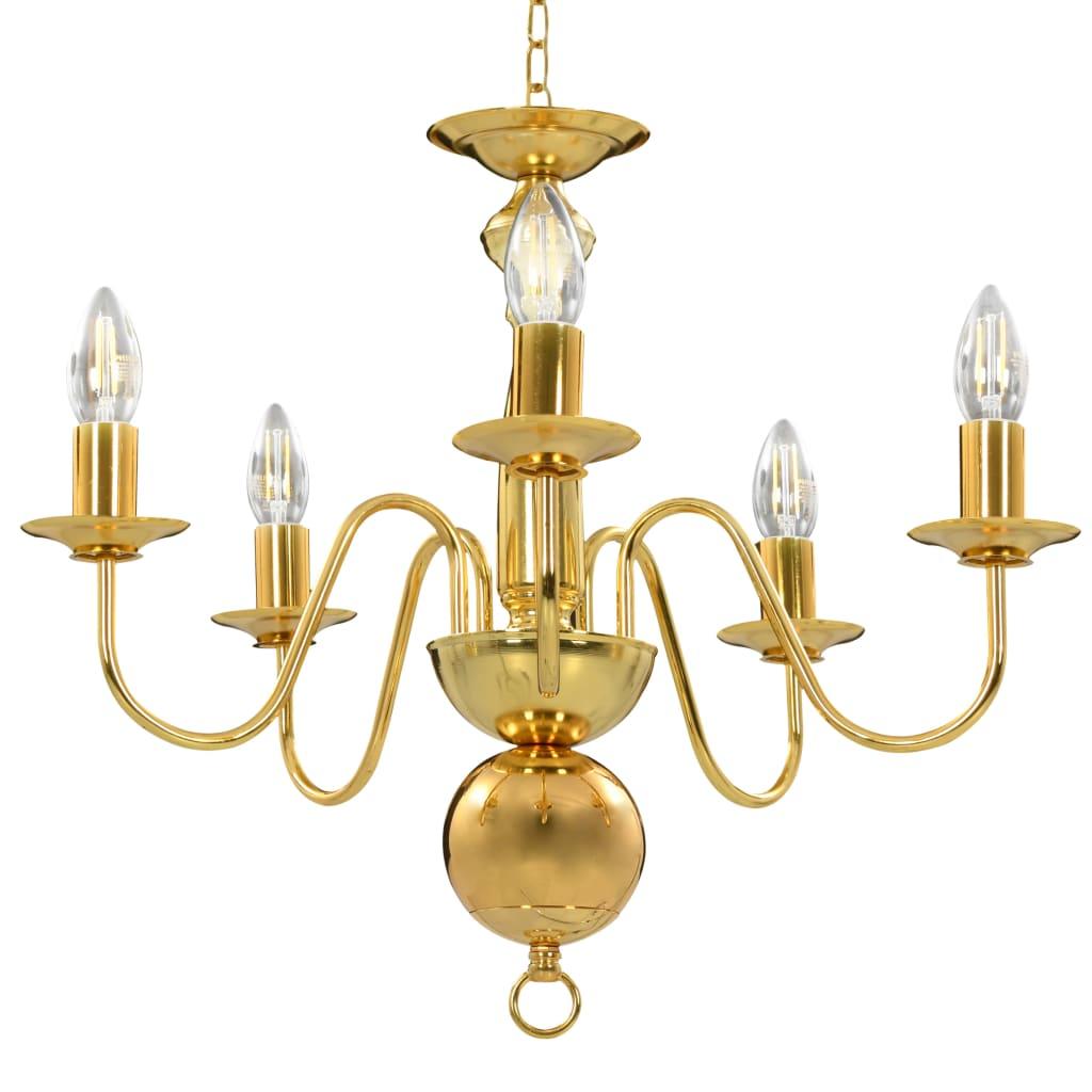 Csillár, vidaXL, aranyszínű, 5 x E14 lKD8dX