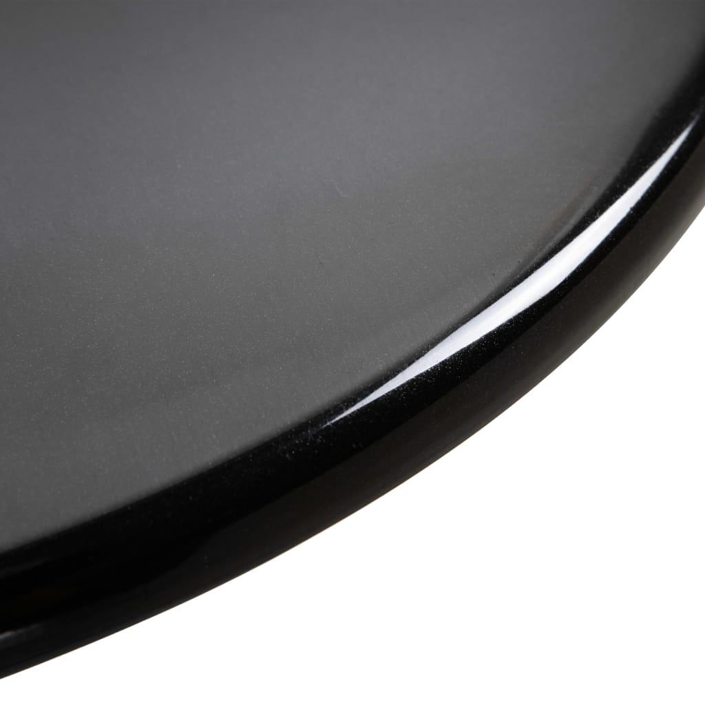 Bárasztal, vidaXL, ABS, fekete, Ø60 cm qZWKId