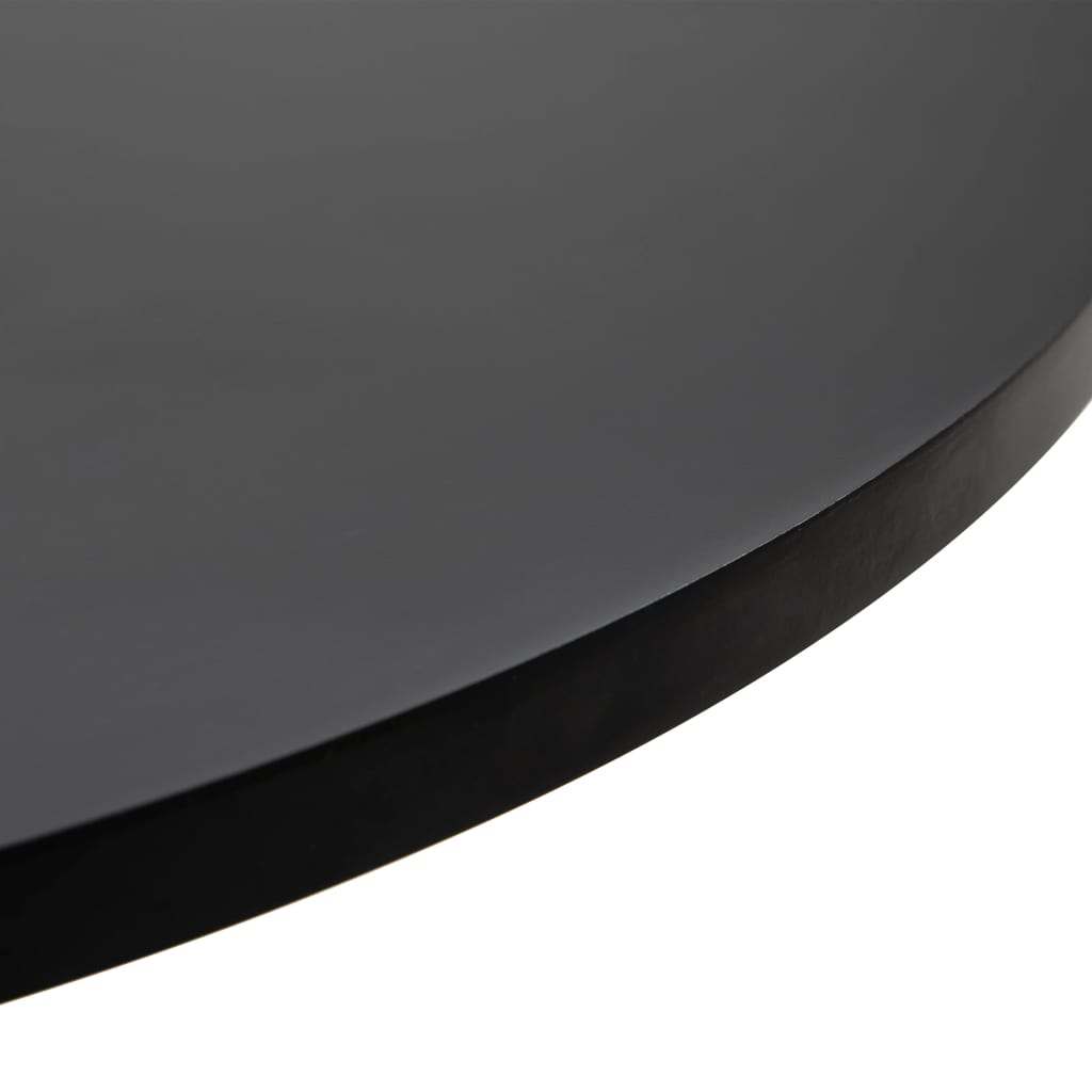 Bárasztal, vidaXL, MDF, fekete, Ø60 cm PRcxeF