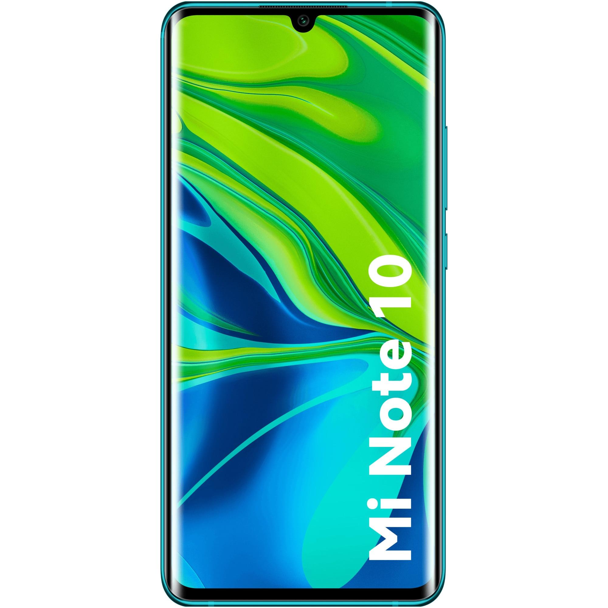 Fotografie Telefon mobil Xiaomi Mi Note 10, Dual SIM, 128GB, 6GB RAM, 4G, Aurora Green