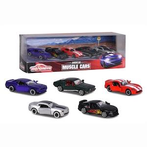 Set 5 masinute Majorette - Muscle Cars, 7.5 cm