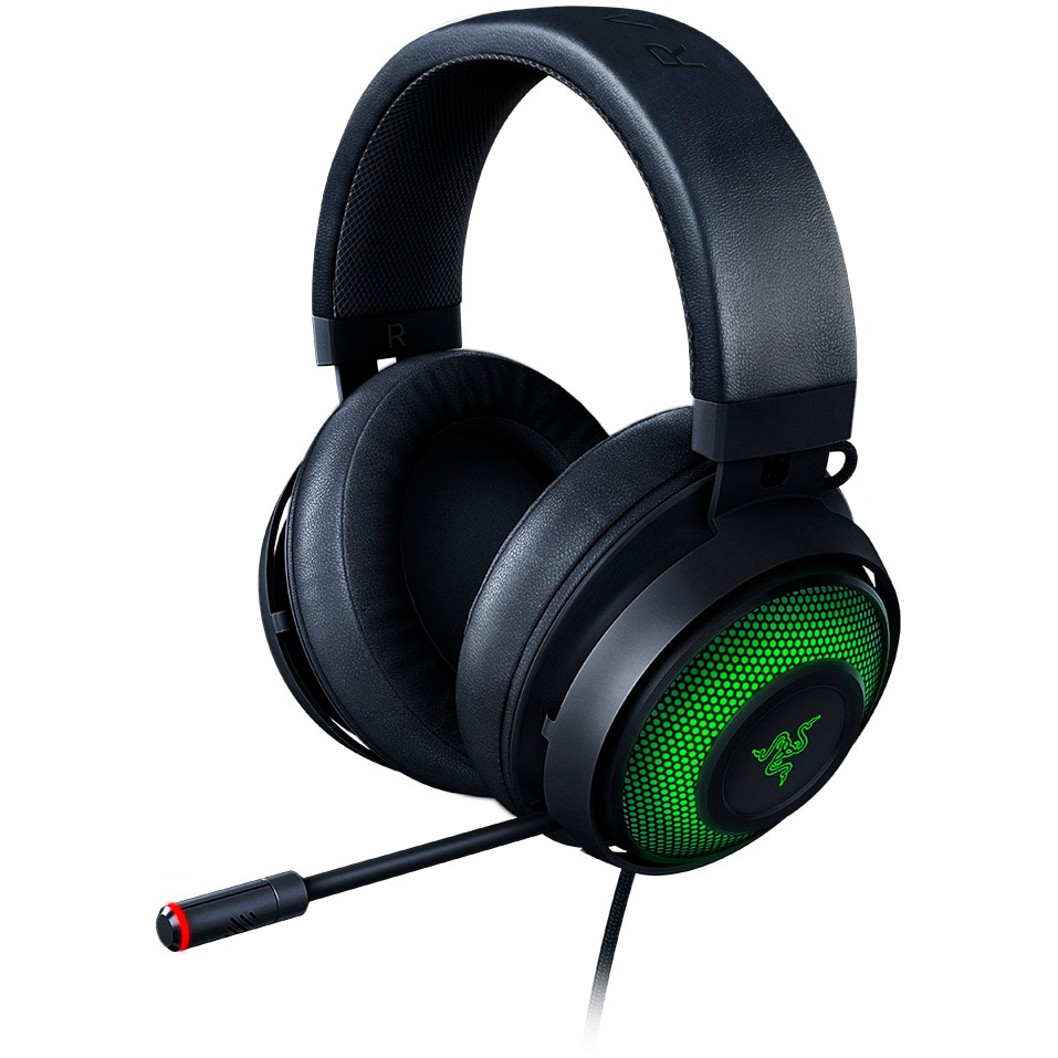 Fotografie Casti gaming Razer Kraken Ultimate ANC, Surround THX, iluminare Chroma RGB, Negru