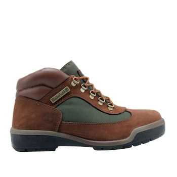 Мъжки водоустойчиви обувки Timberland, 10025-44, естествена кожа-набук, Кафяв/Зелен, Размер 44