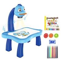 Детски проектор Атлас, за рисуване, син
