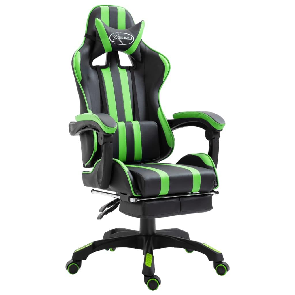 Zöld műbőr gamer szék