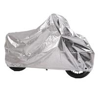 Husa-Prelata protectie impermeabila, Craftride XXL Outdoor, pentru motocicleta, Rezistenta la apa si soare, intemperii si praf, Polyester/ Folie Aluminiu, Argintiu