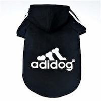 Jacheta Adidog pentru caini, AEXYA, negru cu alb, Marimea S