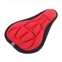 Kerékpár üléshuzat, nyereghuzat, univerzális, puha géllel töltve (Piros)