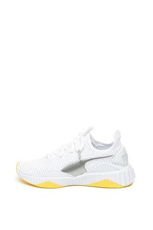 Puma, Defy TZ bebújós sneaker, Fehér / Ezüstszín, 3.5