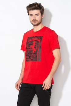 Puma, Ferrari Big Shield Dry Cell pamutpóló, Piros/Fekete