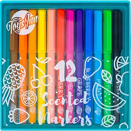 Set 12 markere Toys Inn parfumate